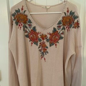 Entro Lizard Thicket Long Sleeve Light Sweater